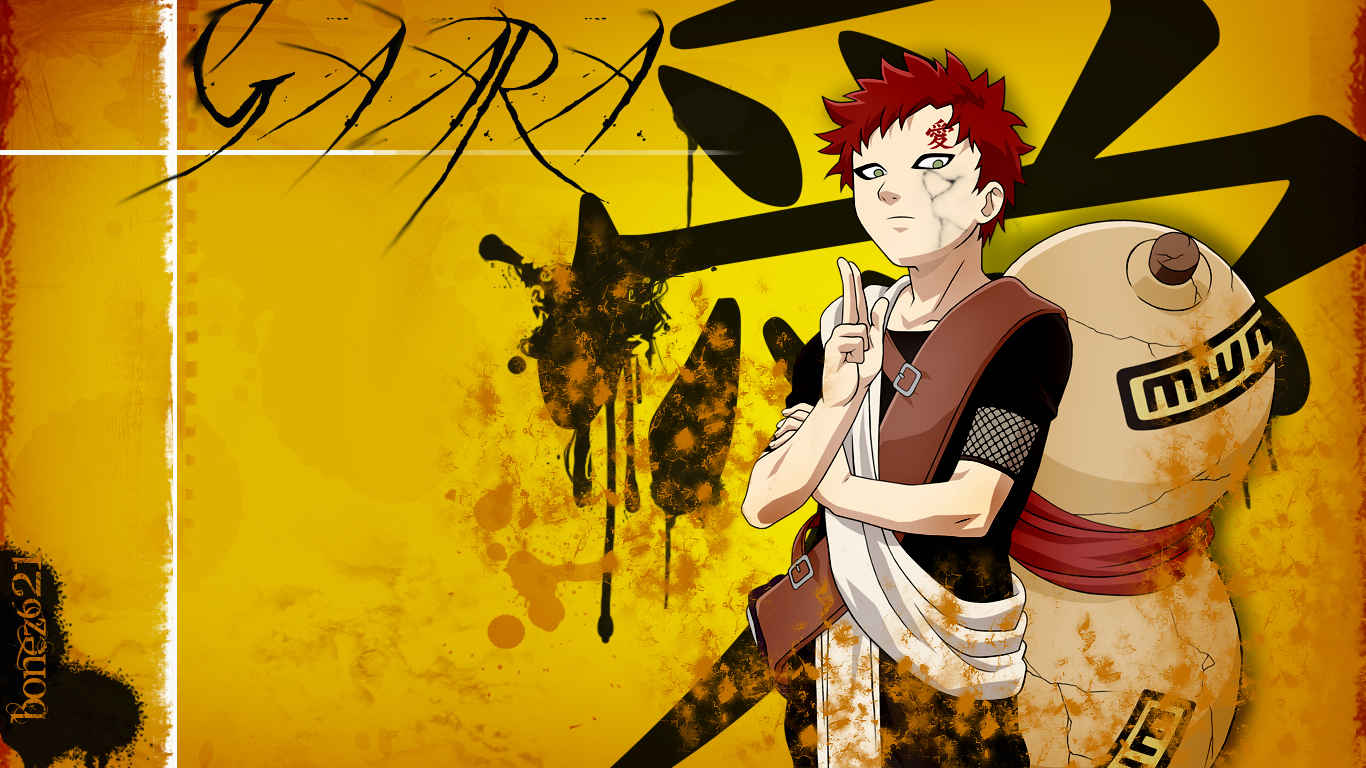 Manga Gaara Kazekage Suna Wallpaper Anime   desktop wallpapers 1366x768