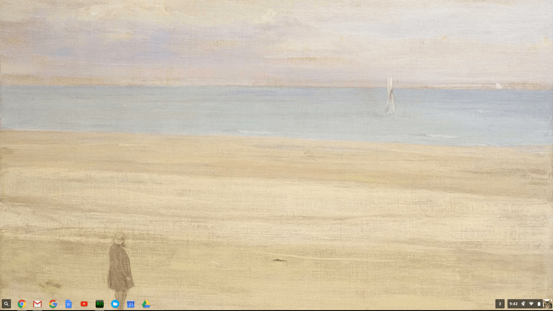 Wallpaper on a Chromebook with the new Google Wallpaper Art Chrome app 1920x1080