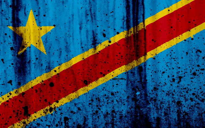 Download wallpapers Democratic Republic of the Congo flag 710x444
