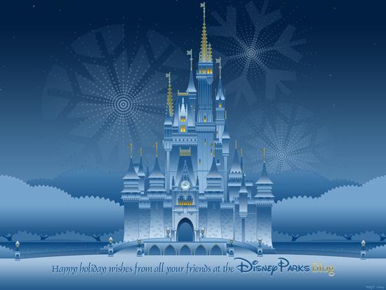 Our Disney Parks Happy Holidays Wallpaper Disney Parks Blog 550x413
