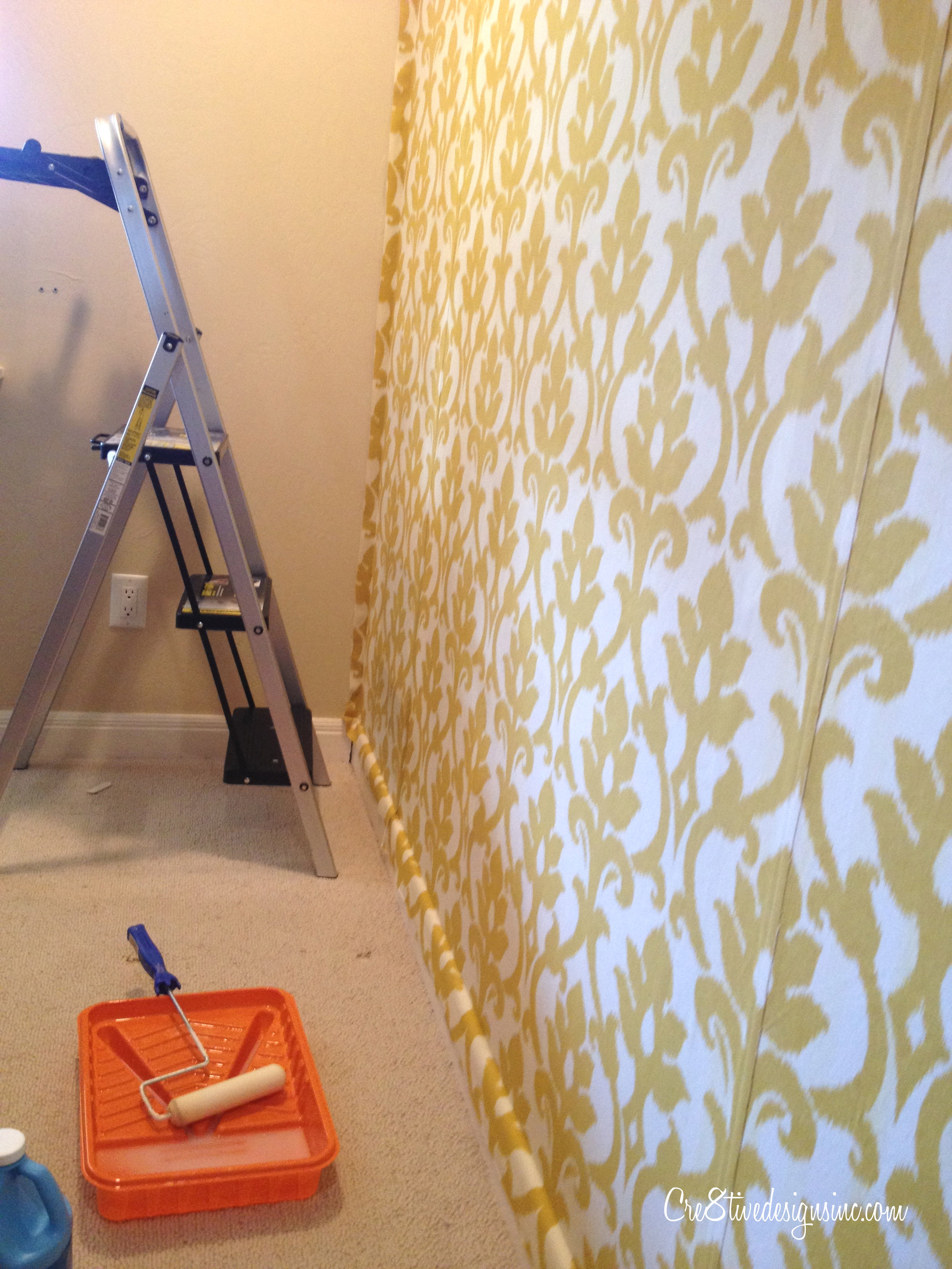 How to wallpaper with fabric using starch   Cre8tive Designs Inc 2448x3264