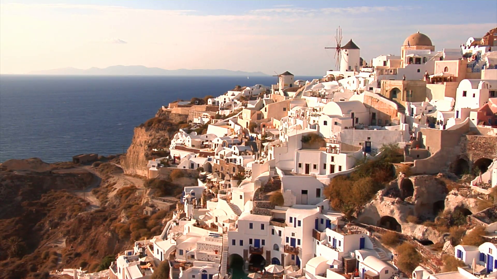 Oia Windmills wallpaper Gallery 1920x1080