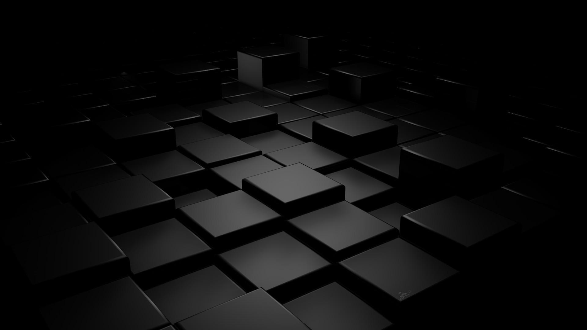 Black cubes HD Wallpaper 1920x1080 1920x1080