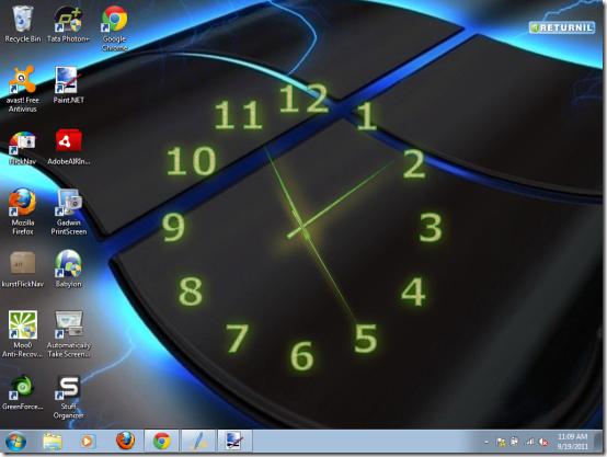 Desktop Analog Clock Aero Clock 554x417