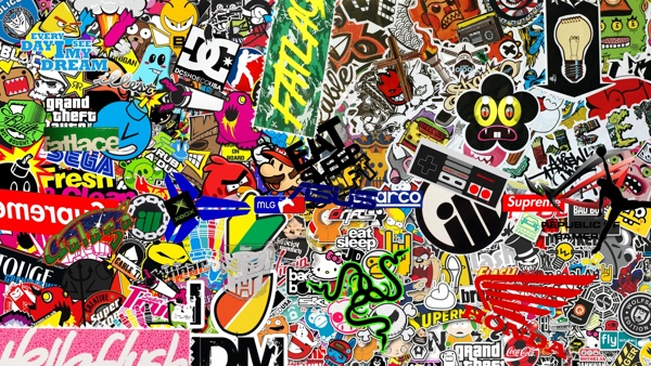 This wallpaper is a collection of premade wallpapers and stickers 600x338