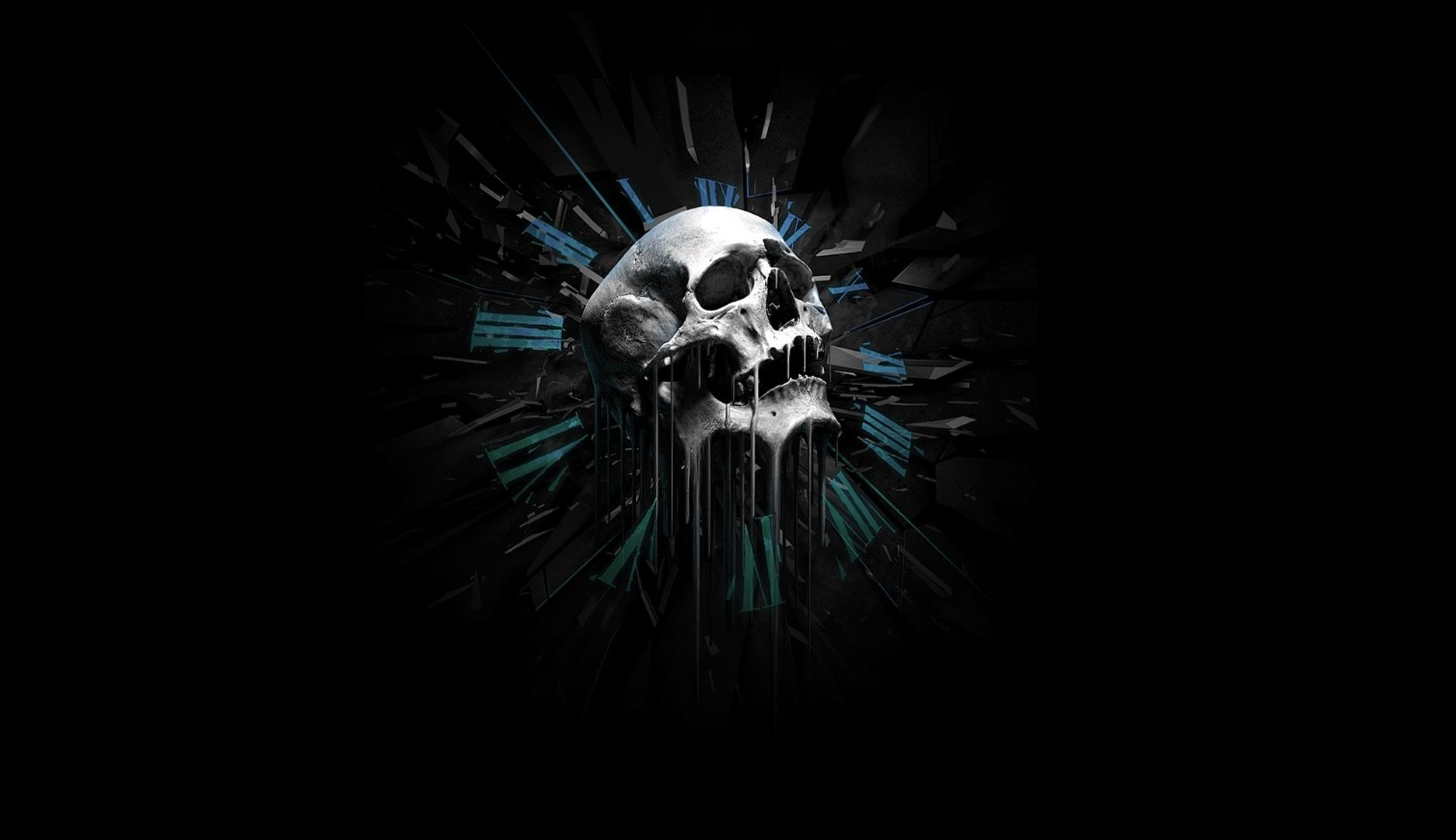 Free 3d skull wallpaper wallpapersafari Free 3d