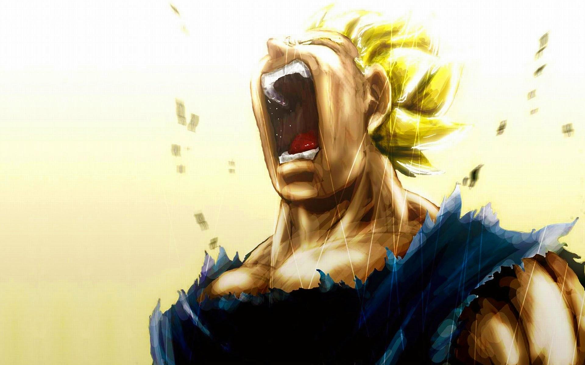 Vegeta Super Saiyan Scream 9g HD Wallpaper 1920x1200