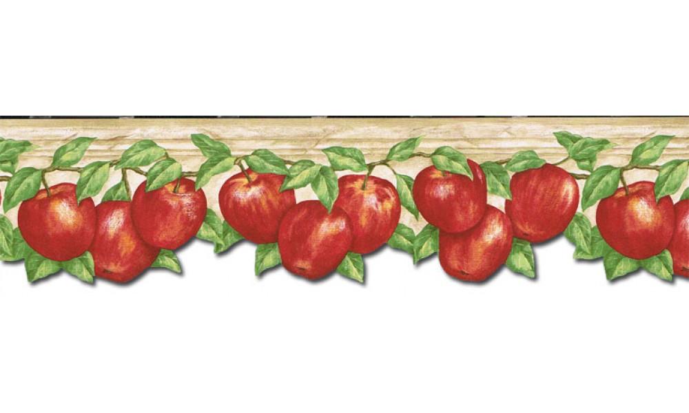 Home Apple Fruits Wallpaper Border GS96027DB 1000x600