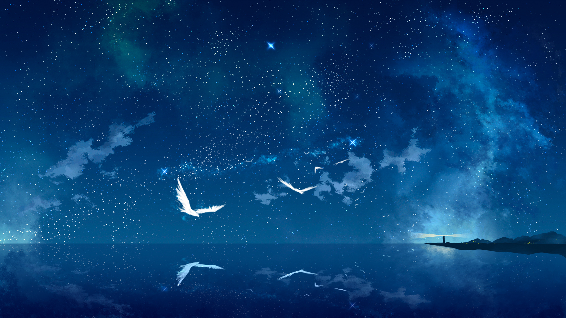 starry night sky wallpaper 1920x1080