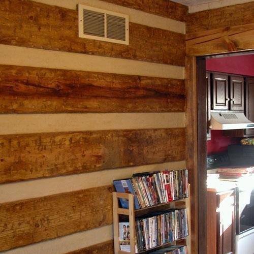 Fake Log Cabin DoItYourselfcom 500x500