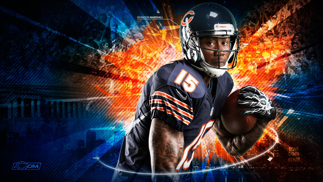 Chicago Bears wallpaper HD background Chicago Bears wallpapers 1366x768
