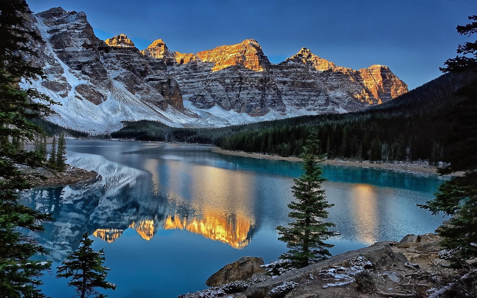 Banff National Park Mountain Reflection Hd Wallpaper Wallpaper List 1920x1200