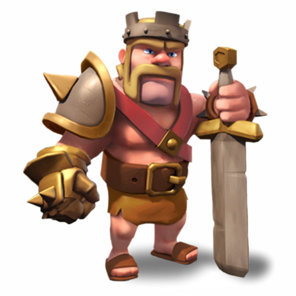 Clash Of Clans Barbarian King And Archer Queen Clash of clans wiki 1000x1000