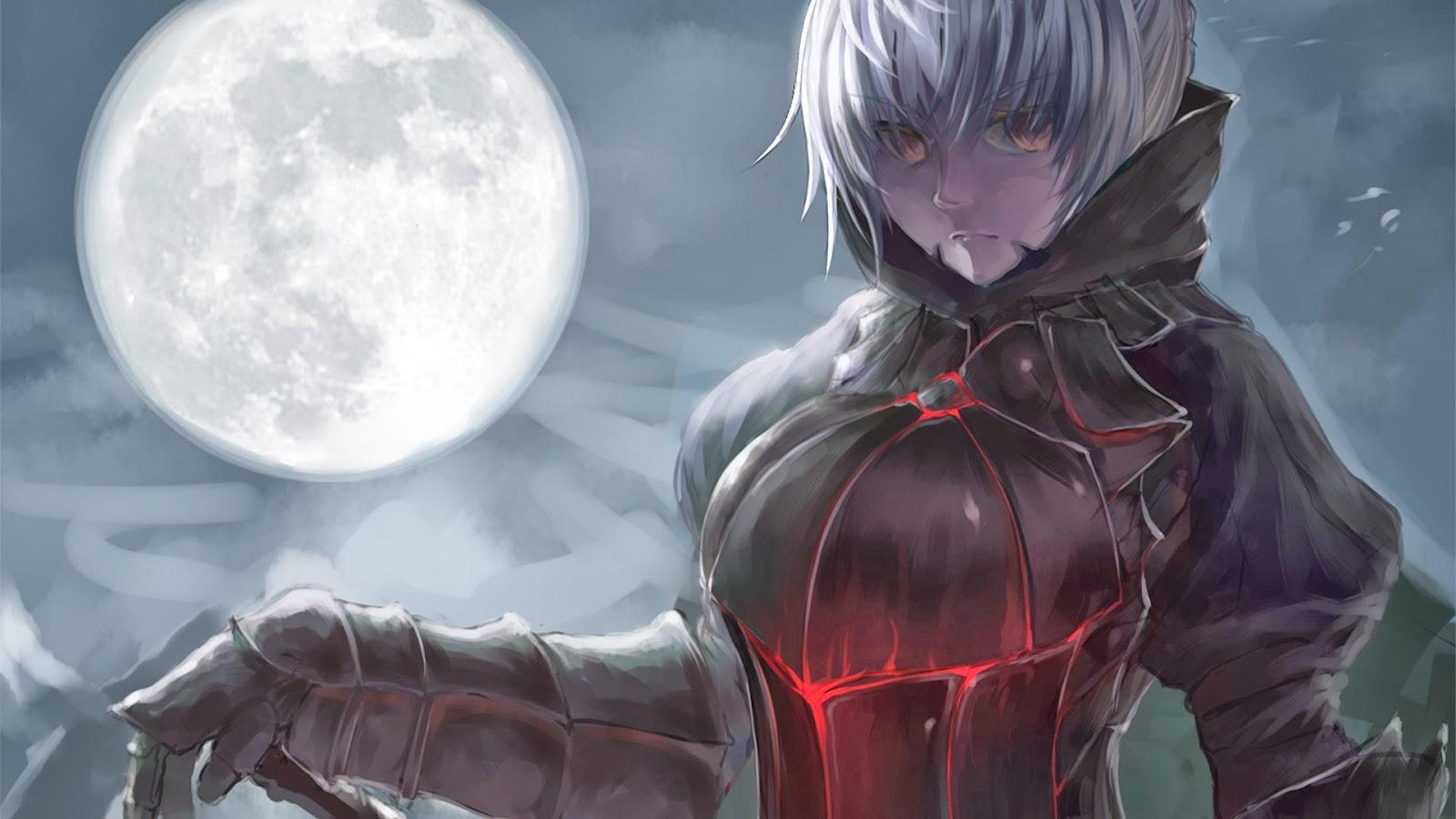 Anime Full Moon Wallpaper Wallpapersafari