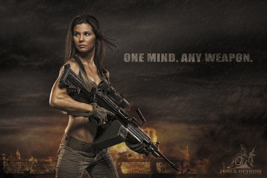 Gun Babe Wallpaper. Tactical Girl by straight8photo 900x600