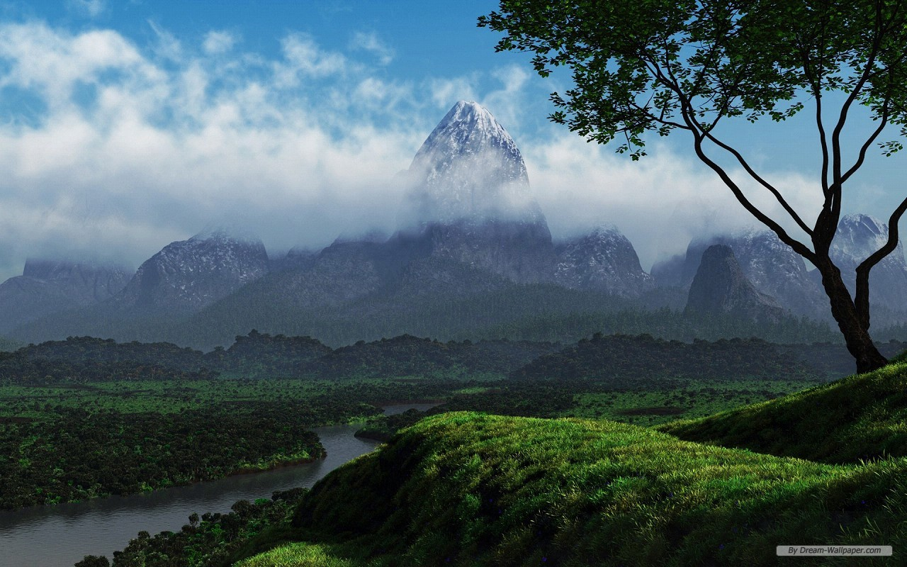 3d nature desktop wallpapers 1280x800