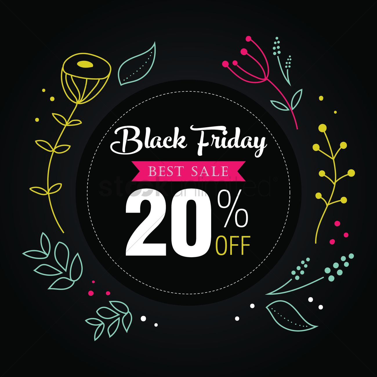Black friday sale wallpaper Vector Image   1583250 StockUnlimited 1300x1300