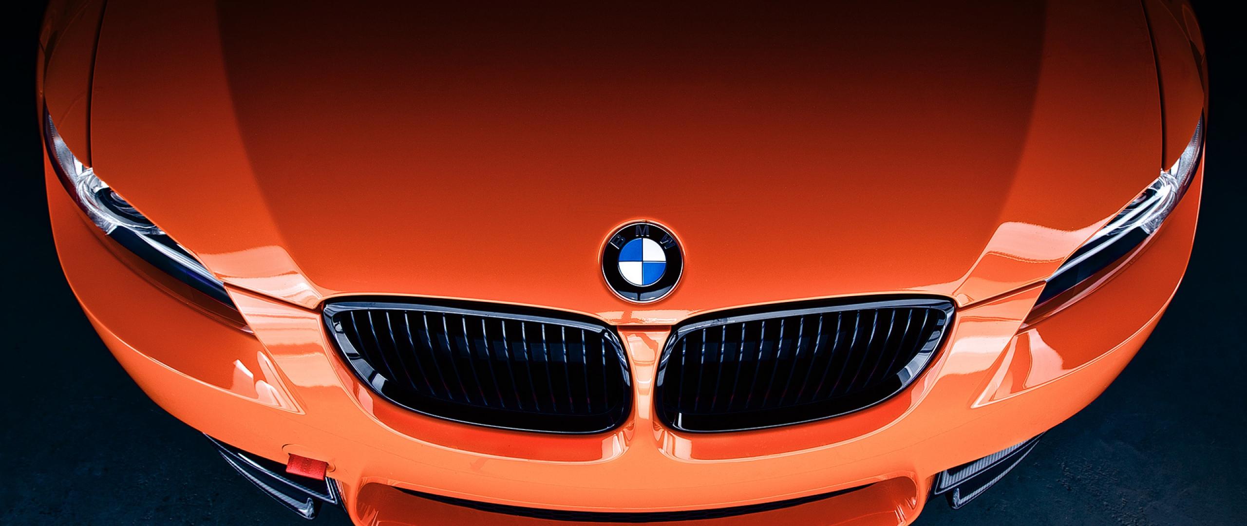 Wallpaper 2560x1080 bmw m3 front orange label icon 2560x1080 2560x1080