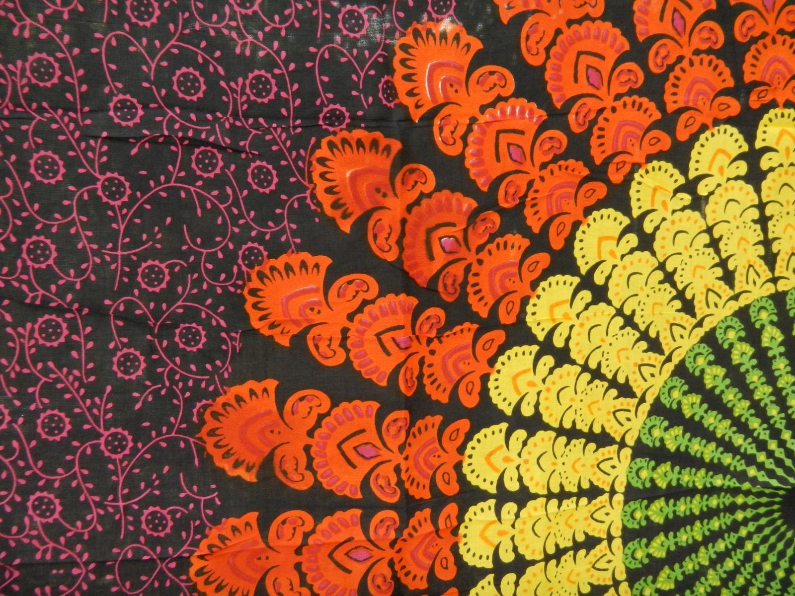 Iphone wallpaper tumblr boho - Bohemian Mandala Neon Black