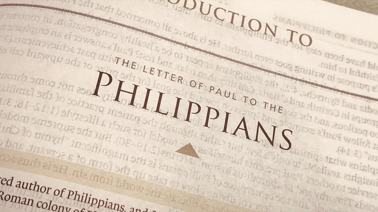 The Book of Philippians Chapter 1 Background Introduction and 1280x720