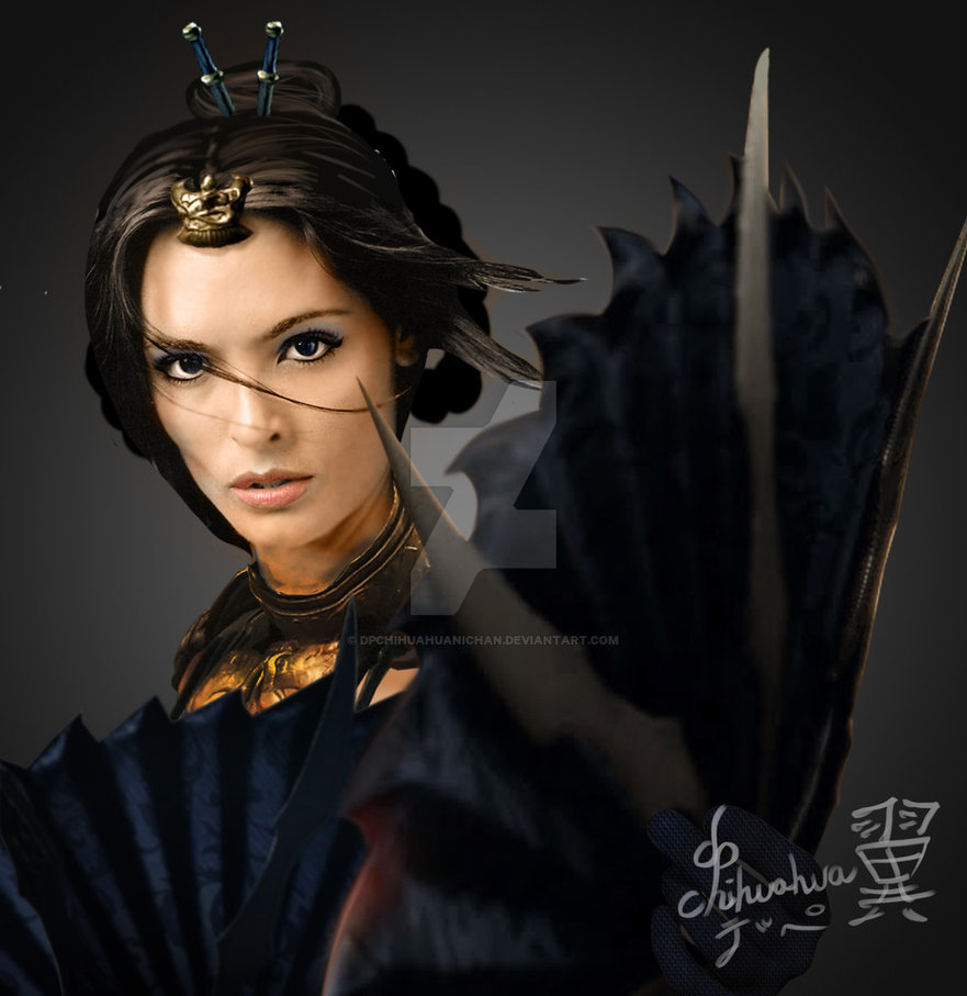 Talisa Soto as MKX Kitana Royal Storm by Dpchihuahuanichan on 881x907