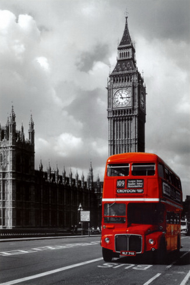 London Red Bus iPhone Wallpapers Wallpapers Photo 640x960