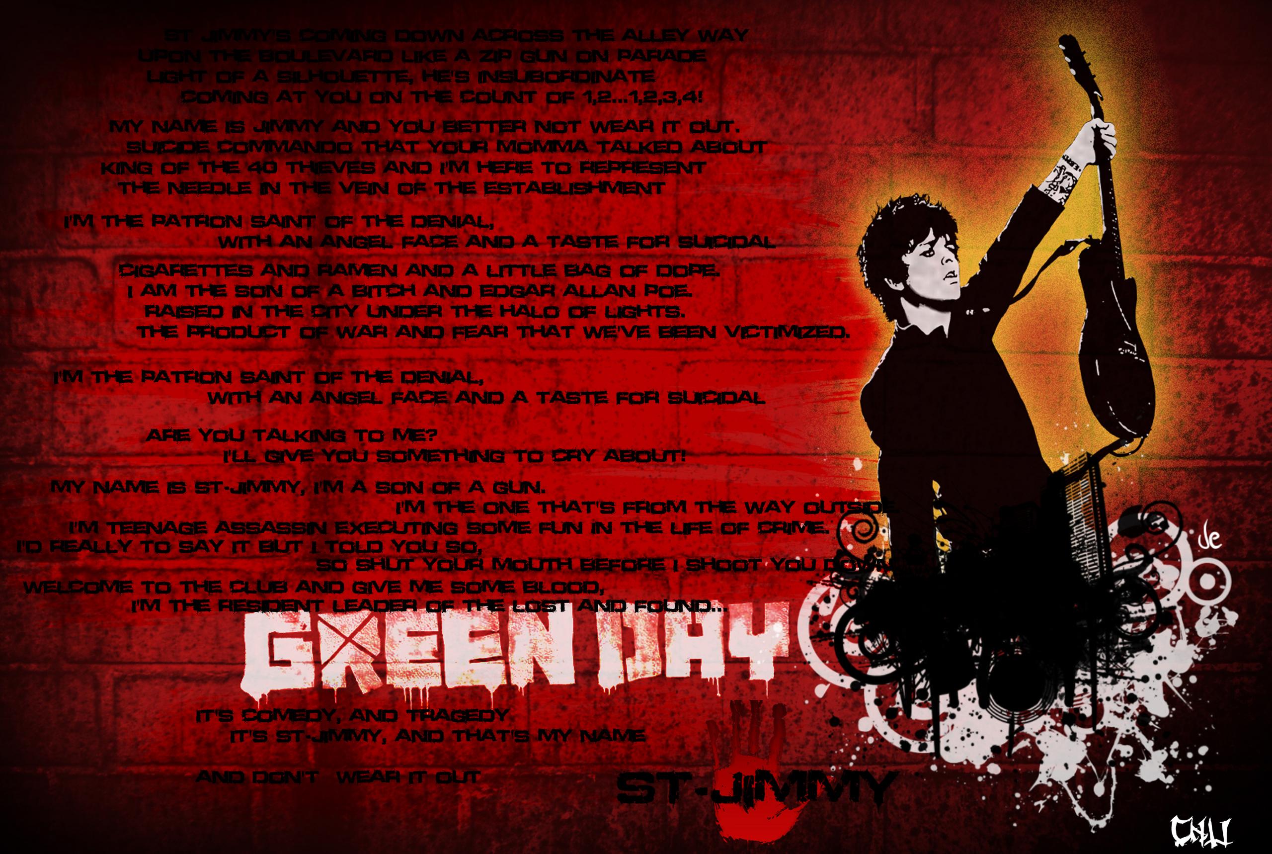 St Jimmy lyrics Wallpaper   Green Day Photo 26096376 2560x1718