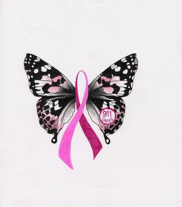 breast cancer logo by AljanSundance 600x684