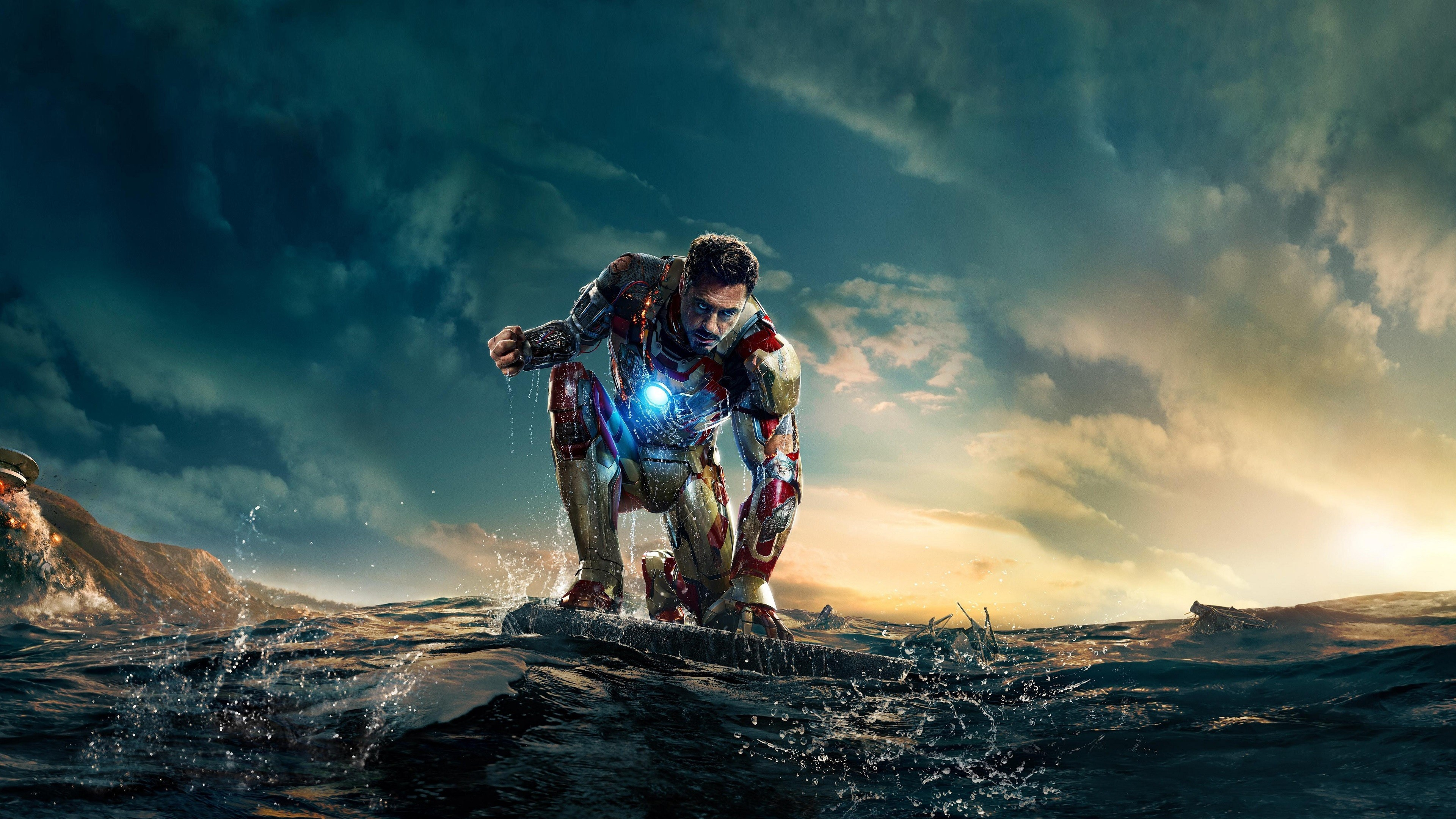 Robert Downey Jr as Iron Man 4K Wallpapers 3840x2160
