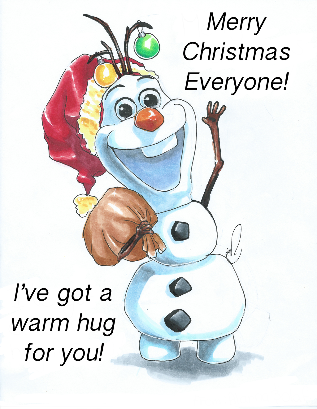 Frozen Olaf Merry Christmas 1024x1321
