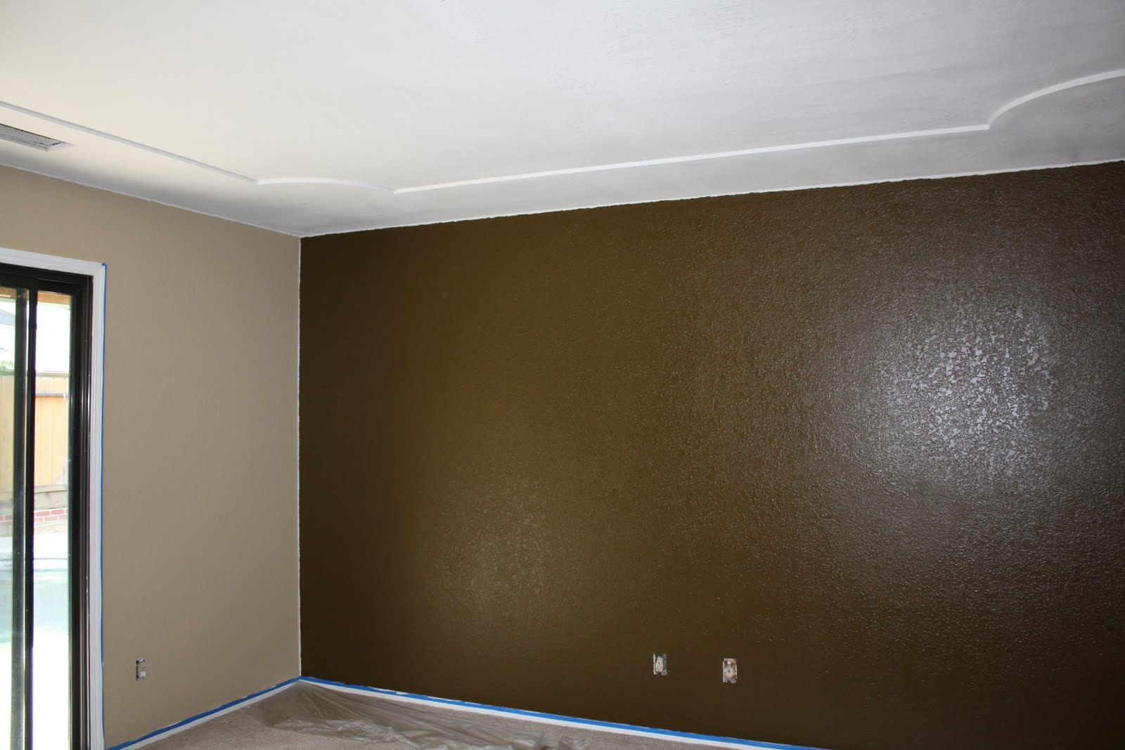 Master Bedroom Green Blue Accent Wall