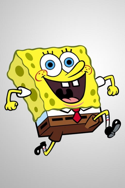 Spongebob Squarepants Running iPhone HD Wallpaper 516x774
