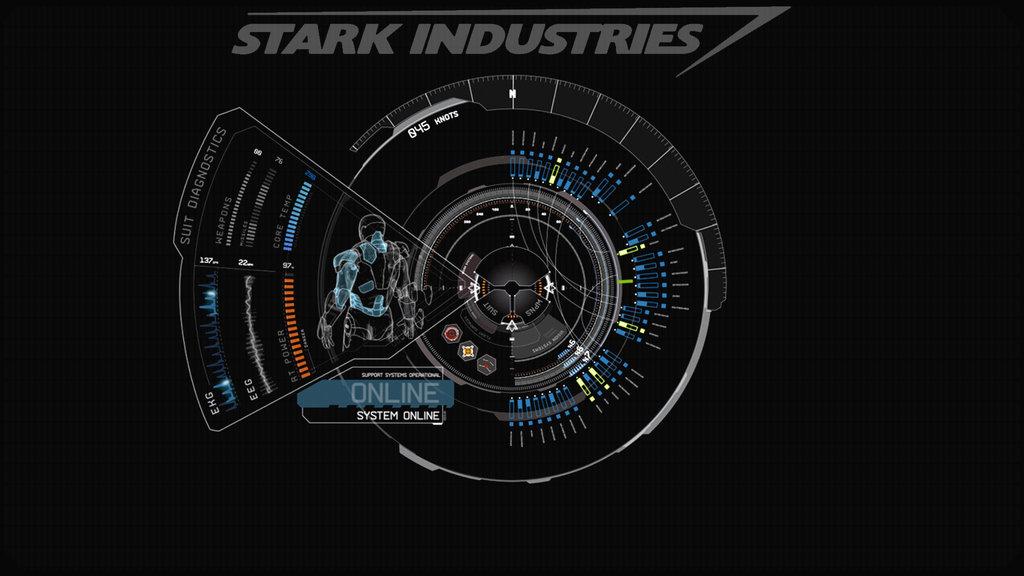 JARVIS Iron Man Blue Wallpaper by edreyes 1024x576
