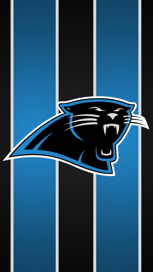 Carolina Panthers Stripe Wallpaper for iPhone 5 640x1136