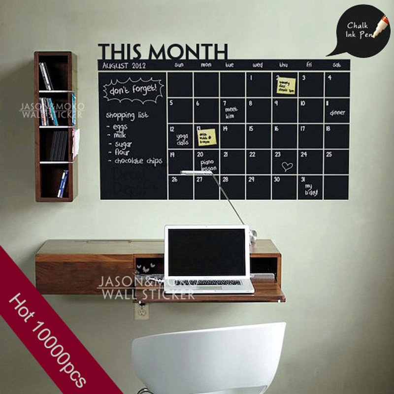 Vinyl Wall Calendar Sticker Wall Decals Wallpaper Adhesive Removable 800x800