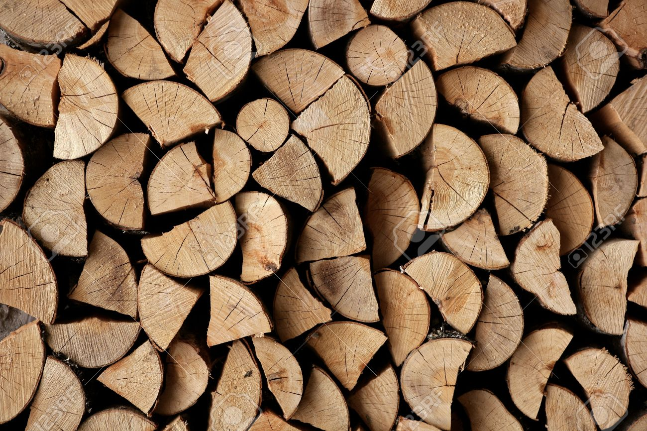 Cut Firewood Stack Logs As Pattern Background Stock Photo Picture 1300x866