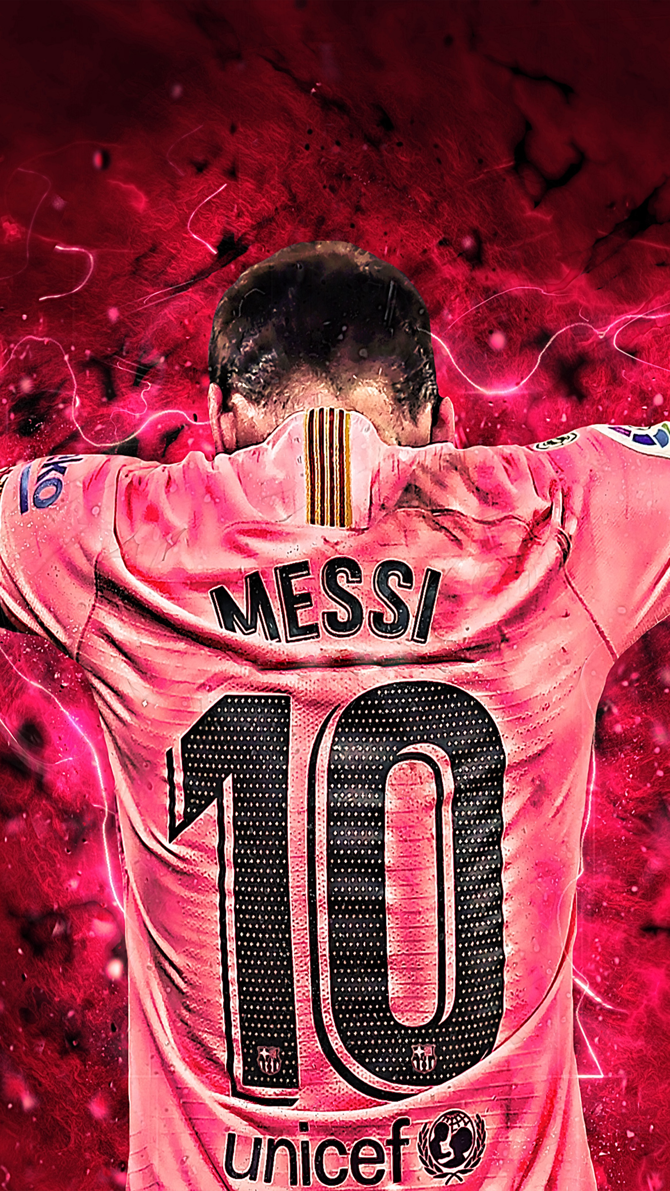 Messi 10 Art Graphics 4K Ultra HD Mobile Wallpaper 2160x3840