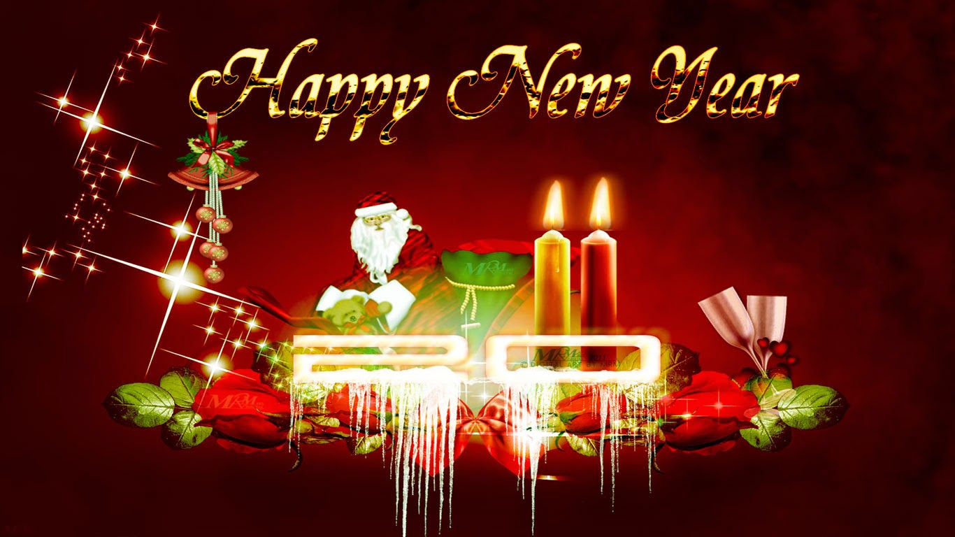 Happy New Year 2015 Wishes Wallpapers   New Year Wallpapers 1366x768