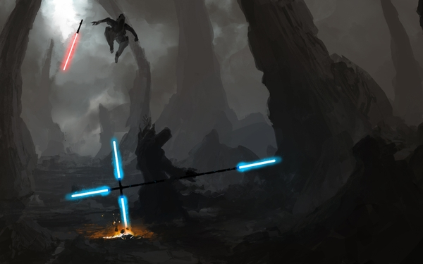 wars energy lightsabers duel sith jedi artwork 1920x1200 wallpaper 600x375