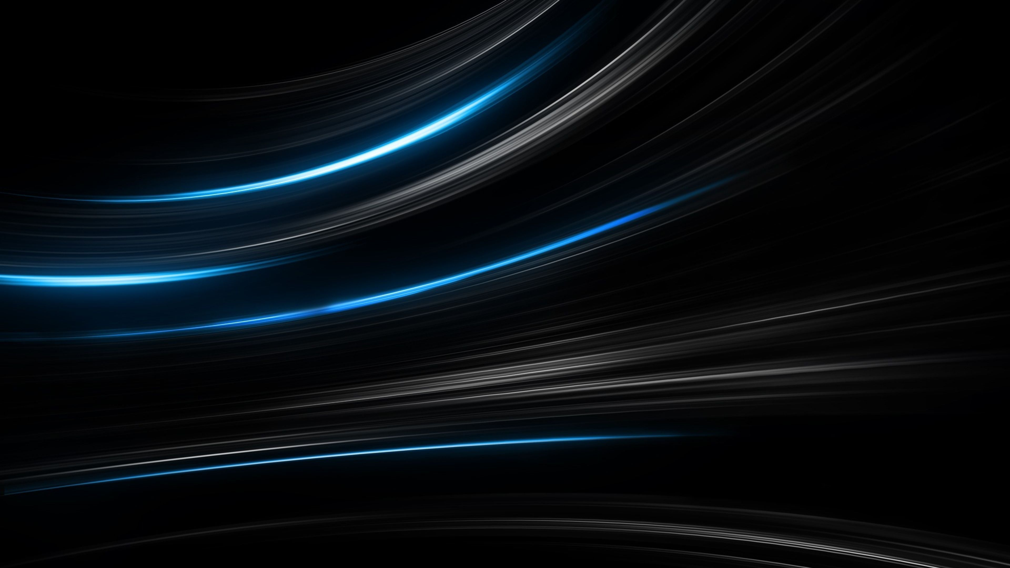 Black Abstract Ultra HD Wallpaper Black and blue wallpaper Dark