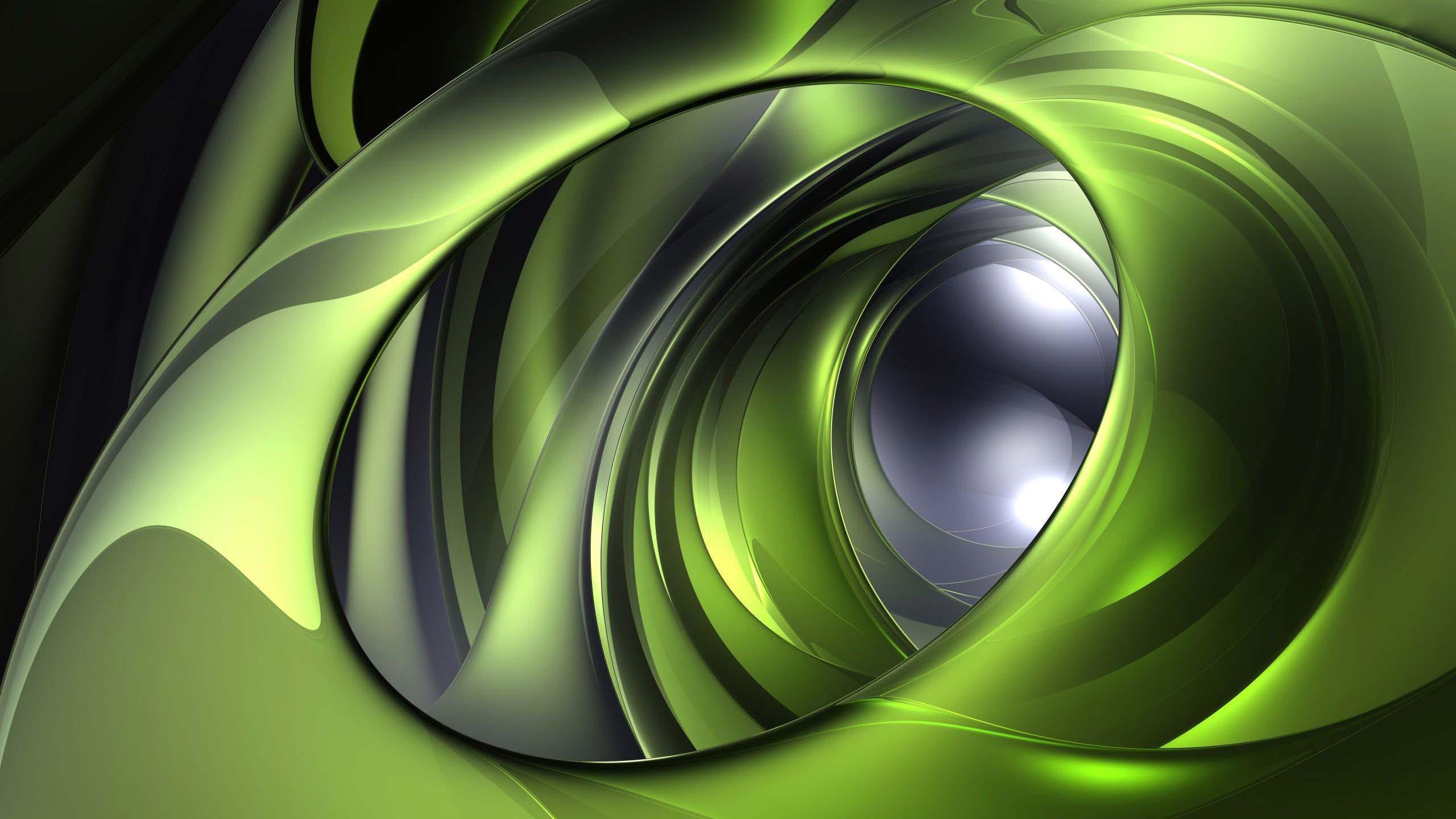 Green metallic circles wallpaper   1360826 2560x1440
