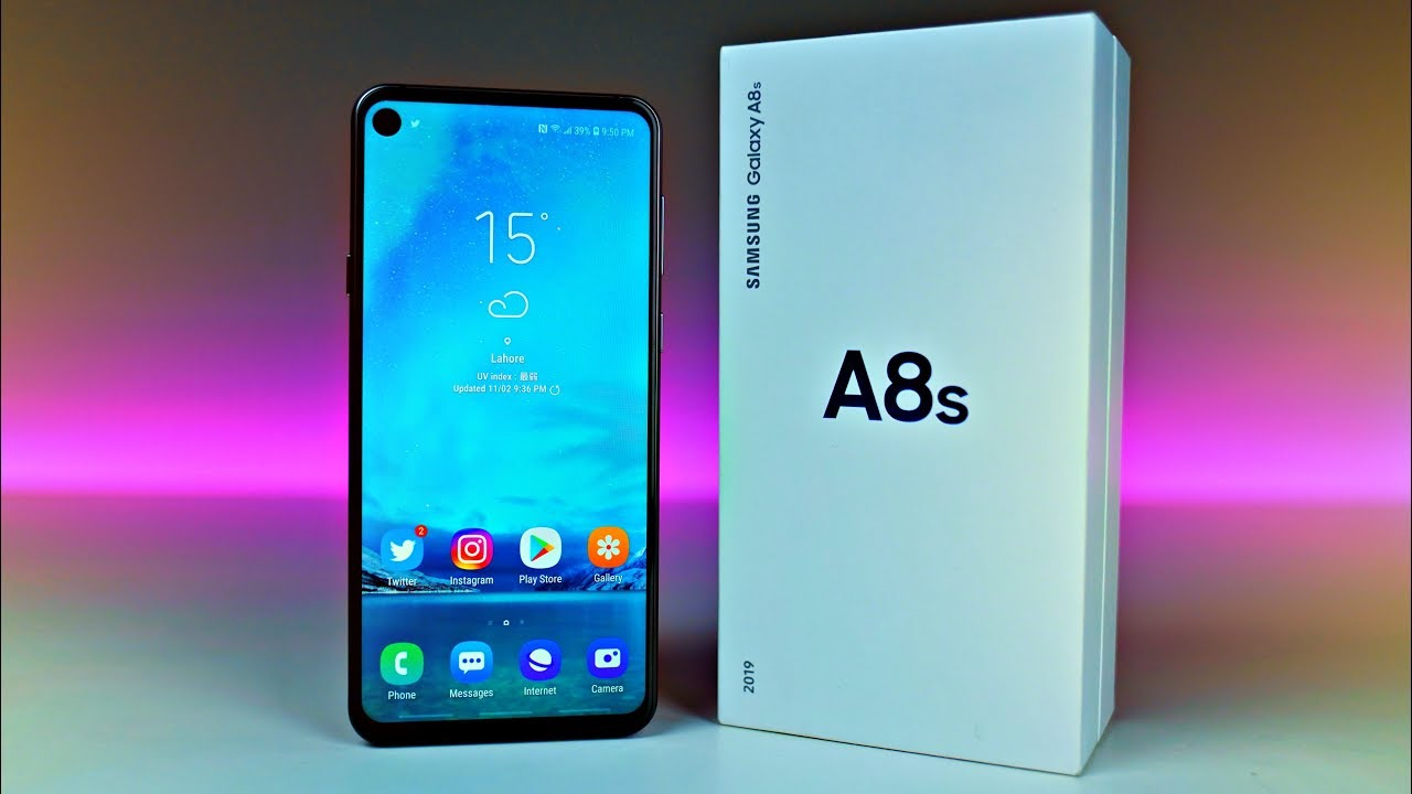 Samsung Galaxy A8S INFINITY O   UNBOXING FIRST LOOK 1280x720