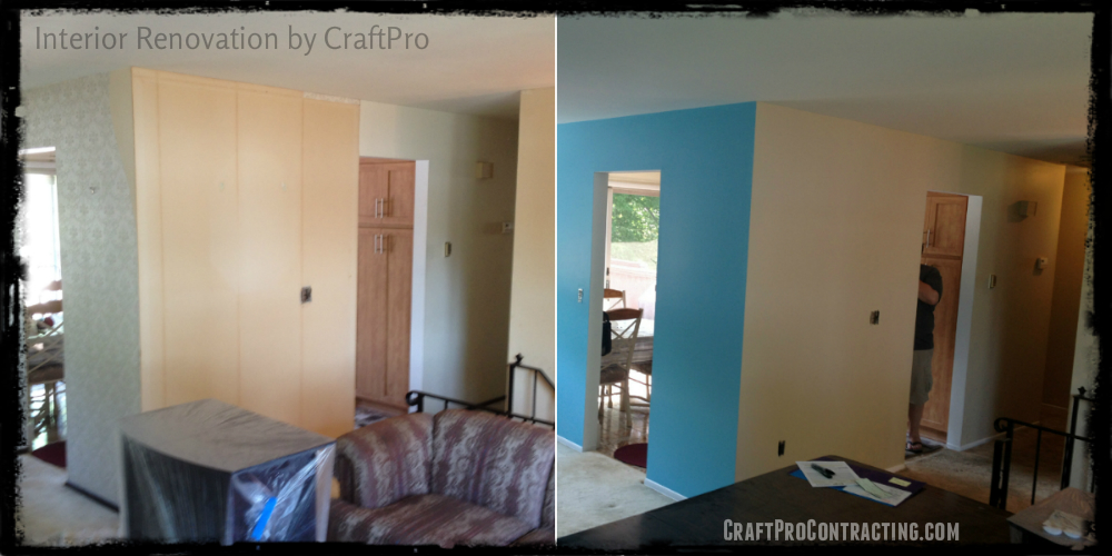 Before and After Wallpaper Removal Wall Sealing Priming Skim Coat 1000x500
