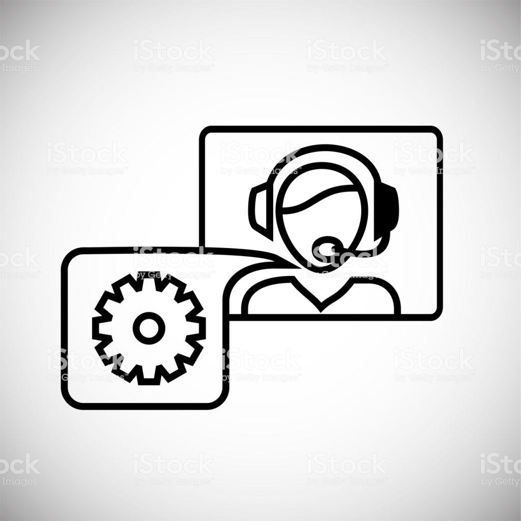 Help Desc Call Center Operator Thin Line On White Background Stock 1024x1023
