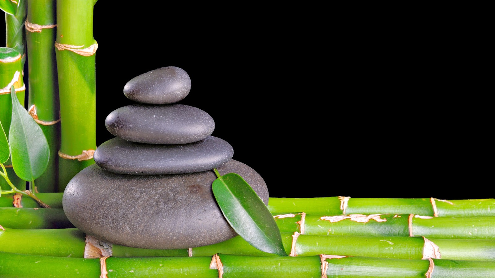 zen stones and bamboo - photo #39