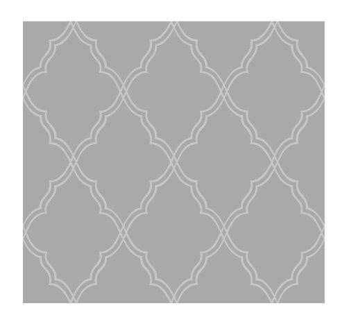 Moroccan Lattice Sand Wallpaper Dark Platinum Gray MetallicWhite 500x467