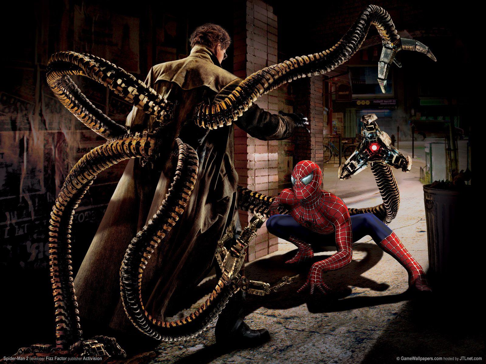 Spiderman Spider man vs Doctor Octopus El Mundo Marvel 1600x1200