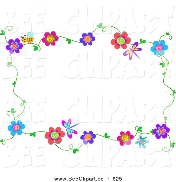 Dragonfly Border Clip Art 600x620