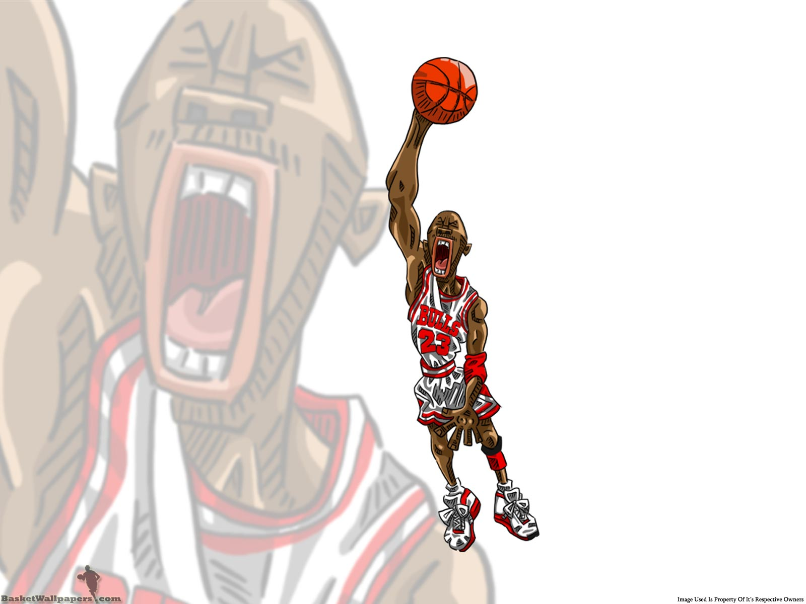 Michael Jordan Drawn Dunk Wallpaper Basketball Wallpapers at 1600x1200