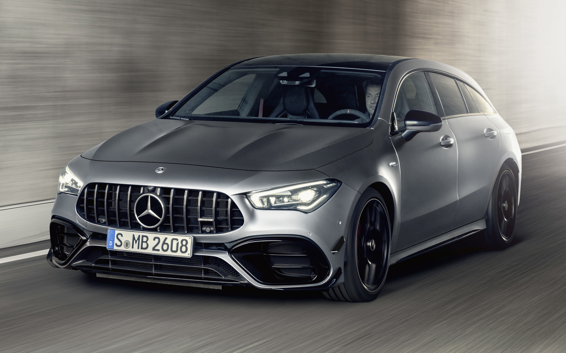 2019 Mercedes AMG CLA 45 S Shooting Brake Aerodynamics Package 1920x1200